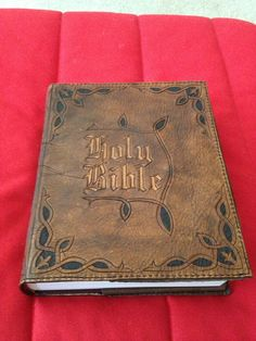 Large Bible or Book Cover Custom Hand Tooled от HydeAndSheik