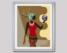 african american wall art and decor – Decoration ideas African Wall Art, African Artwork, African Art Paintings, Black Girl Art, Black Women Art, Black Art, African American Art, African Women, Shiba Inu