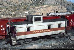 RailPictures.Net Photo: UTAH 61 Utah Railway Company Mount Vernon Car Caboose at Helper, Utah by James Belmont