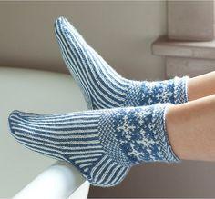 Knitting scandinavian slippers and socks by Laura Farson Knitting socks Fair Isle Knitting, Knitting Socks, Hand Knitting, Mitten Gloves, Mittens, Slipper Socks, Slippers, Lots Of Socks, Art Textile