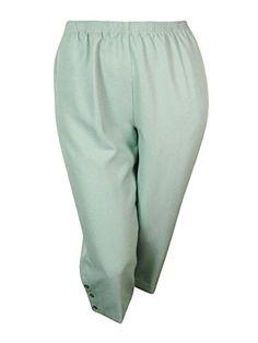 Alfred Dunner Womens Dress Pants Stretch Waist Lightweight White 16W 18W 24W NEW