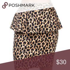 ali & Kris CHEETAH LEOPARD PEPLUM PENCIL SKIRT never worn no tags. Size medium. Skirts