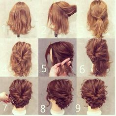 Updo Hairstyles For Short Hair 48 Messy Bun Ideas For All Kinds Of Occasions  Pinterest  Elegant