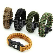 #Paracord #survival bracelet whistle gear kits #flint fire starter scraper useful,  View more on the LINK: http://www.zeppy.io/product/gb/2/400792449261/