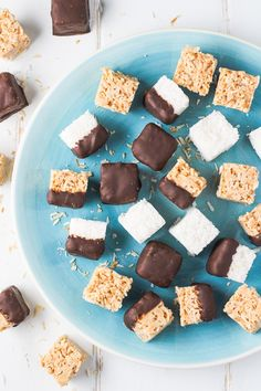 These healthy coconut bites are made with only two ingredients. The recipe includes step-by-step pictures and two sugar-free options.