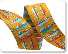 Gold Arrow Feathers Ribbon - Anna Maria Horner