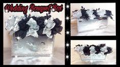 DIY WEDDING FLOWER BOUQUET BOX. Dollar Tree & Michael's Glam Centerpiece. Simply Easy #6