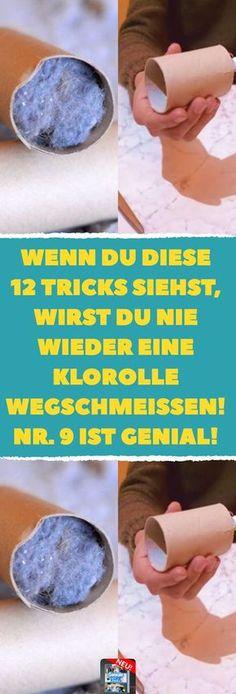 Wenn du diese 12 Tricks siehst, wirst du nie wieder eine Klorolle wegschmeißen! Nr. 9 ist genial! 12 praktische Klorollen-Tricks. #toilettenpapierrolle #upcycling #klopapier #diy