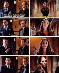 """""""Elena, the General would want to see what you can do"""" - Gen. Talbot, Coulson and Elena #AgentsOfSHIELD"""