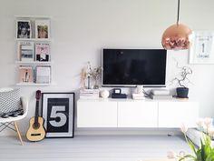 Ikea 'Bestå' floating credenza @emiliemadelene