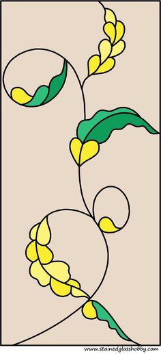 Flowers stained glass design
