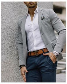Business Casual Looks For Men, Casual Look For Men, Business Casual Outfits Mens, Blazers For Men Casual, Mens Business Clothes, Smart Casual Men Work, Casual Wedding Attire For Men, Casual Outfit For Men, Formal Outfits For Men