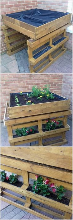 You can amazingly make the usage of the wood pallet planters for the area of your garden location. In this design you will view the various additions of the planters in the wood pallet which you can add with the extra beauty by using the colorful flower pots into it.