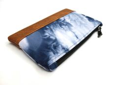 Navy Shibori Clutch, Hand Dyed Purse, Blue Shibori Purse, Tie Dye Clutch, Zippered Pouch, Navy White Clutch, Blue Dyed Bag, Small Clutch Bag #blue #shibori #clutch #handdyed #purse #tiedye
