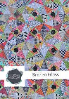 Broken Glass by Jen Kingwell Quilt Pattern Instructions Only Triangles