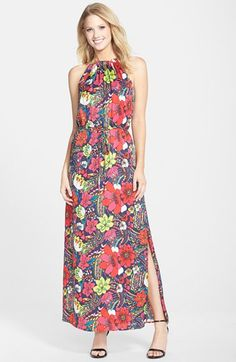 Laundry by Shelli Segal Print Woven Blouson Maxi Dress available at #Nordstrom
