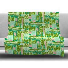 East Urban Home Maze by Amy Reber Fleece Blanket