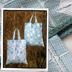 Upcycling-Beutel aus Baumwoll-Web-Tischdecke Shopping Bags, Tote Bag, Old Clothes, Weaving, Shopping, Repurpose, Table, Deco, Shopping Bag