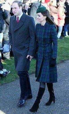Kate in tartan