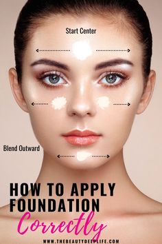 How To Use Foundation, Types Of Foundation, Makeup Tips Foundation, Applying Foundation, Foundation Shade, Foundation Application Tutorial, Makeup Application, How To Apply Concealer, How To Apply Makeup
