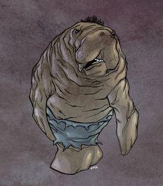 Hulk Manatee - Grey Variant