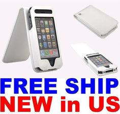 Synthetic Leather Flip Skin Case Cover For Apple iPhone 3G 3GS