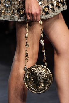 Dolce & Gabbana presented its spring/summer 2014 collection during the Milan Fashion Week on September Renowned fashion designers Domenico Dolce Dog Tag Necklace, Gold Necklace, How To Make Handbags, Best Bags, Cute Purses, Italian Fashion, All About Fashion, Alternative Fashion, Fashion Pictures