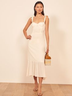 The thrill of wedding dress shopping may be over - but now it's time to fill your wardrobe with fun & beautiful white dresses for every wedding occasion! Engagement Party Dresses, Wedding Dresses, Gown Wedding, Lace Wedding, Jumpsuit Dress, Dress Up, Rehearsal Dinner Dresses, Reception Dresses, Rehearsal Dinners