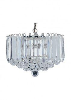 Sigma Chrome 4 Lamp Ceiling Light With Acrylic Prisms & Balls - Buy Modern Ceiling, Pendant Lighting, Furnitureinfashion UK Antique Chandelier, Pendant Chandelier, Ceiling Pendant, Chandelier Lighting, Light Pendant, Chandeliers, Flush Ceiling Lights, Lighting Sale, Modern Ceiling