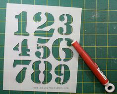 make your own stencils using quilter's template plastic and a craft knife