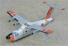 Shin Meiwa PS-1 (US-1A) Flying Boat Free Aircraft Paper Model Download
