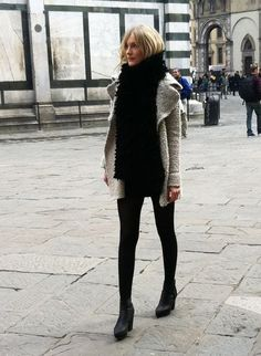 Large scarf with sweater coat