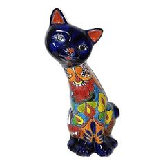 Talavera Mrs. Cat | Mexican Home Decor | Mexican Talavera | Mexican Decor | Mexican Art | Mexican Handmade Art | #homedecor #talavera #mexicanTalavera #mexicanDecor #mexicanHome Mexican Decorations, Mexican Home Decor, Mexican Art, Program Design, Handmade Art, Scooby Doo, This Is Us, Boutique, Cats