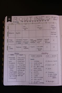 bullet journal routines
