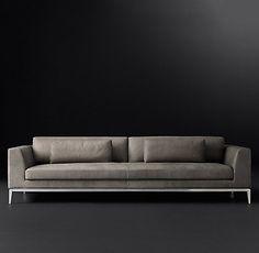 Italia Taper Arm Leather Sofa | RH Modern - https://www.rhmodern.com/catalog/category/products.jsp?link=ItaliaTaperArmLeatherSofa&categoryId=cat7150080