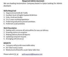 Application For No Objection Certificate For Job New Office Boy And Cleaners Job In Qatar  Armani  Pinterest