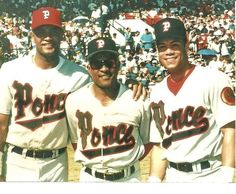 Familia Alomar, Sandy Jr. Sandy Sr. y  Roberto con los Leones de Ponce, Puerto Rico.