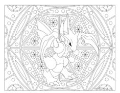 Adult Pokemon Coloring Page Scyther
