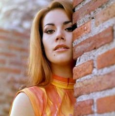 Born Claudine Oger in Paris in Claudine Auger earned the title of Miss France Monde and was also the first runner-up in the 1958 Miss . Britt Ekland, Claudine Auger, Brooklyn Girl, Bond Girls, Dominique, Miss World, French Actress, Paris, Orange Dress