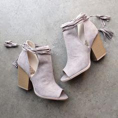 Madelynn suede open toe bootie - shophearts - 1