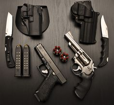 Glock17 9mm and Smith&Wesson Model 66