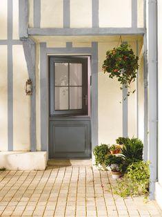 Porte d 39 entr e semi vitr e en aluminium fermi re fpee portes pinterest entr es for Porte vitree exterieure