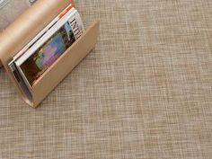Woven Floor Mat in White Gold Ikat