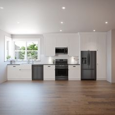 Check out the Frigidaire Smudge-Proof Black Stainless Steel Collection. It fits in any kitchen. One Wall Kitchen, All White Kitchen, Black Kitchens, Kitchen Layout, Kitchen Design, Kitchen Ideas, Stainless Steel Kitchen Appliances, Kitchen With Black Appliances, Kitchen Renovation Inspiration
