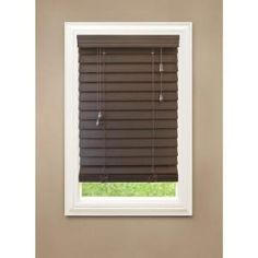 Home Decorators Collection Espresso Premium Faux Wood Blind 2-1/2 in. Slats, 84 in. Length (Prices Vary)-10793478101177 at The Home Depot