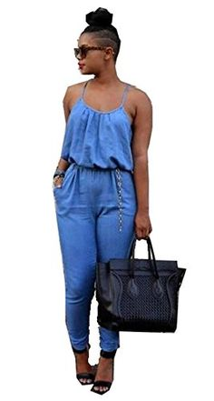 3e4acd06221a Womens Sexy Backless Package Hip Suspenders Jumpsuit Loose Rompers  Nightclub Jumpsuit    Details can be found by clicking on the image.