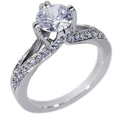 Diamond Solitaire Setting in Platinum