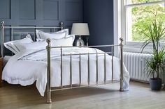 Our Henley Bed is a true design classic complete with traditional castings, delicate mouldings and globe finials. This is stand-out sophistication in a bed and right now, you can enjoy 30% off it! Light Oak, Light In The Dark, Modern Country Style, Metal Beds, Cotton Lights, Beautiful Bedrooms, Timeless Design, Globe, Delicate