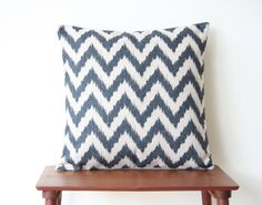 18 x 18 Decorative Pillow Cover Chevron Geometric by BeadandReel