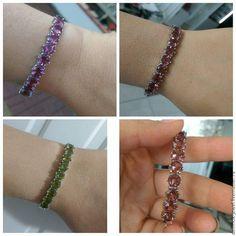 Купить Браслет серебра с султанитами - разноцветный, браслет с султанитами, султанит, диаспор, украшения с султанитом